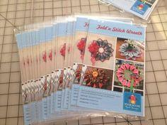Fold'n Stitch Wreath is back in stock!