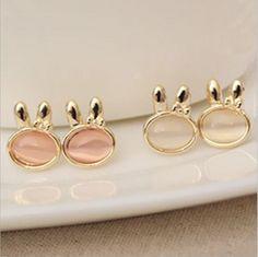 Jewelry, Stud Earrings lovely rabbit version