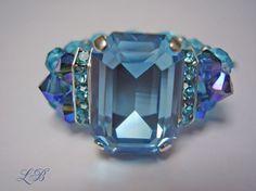 Beautiful Blue Swarovksi Ring