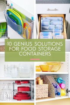 Utilize every inch of cabinetry space with these genius food storage container hacks that will keep your supplies organized and easy to access. You'll learn how to organize your kitchen cabinets quickly and inexpensively. Large Food Storage Containers, Plastic Food Containers, Food Storage Boxes, Storage Hacks, Cupboard Storage, Small Storage, Diy Storage, Small Space Organization, Container Organization
