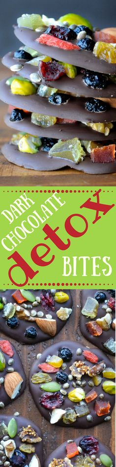 Dark Chocolate Detox Bites are the healthy way to do dessert! ~ theviewfromgreatisland.com