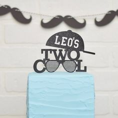 Two Cool Cake Topper for birthday birthday cake 2nd Birthday Cake Boy, 40th Birthday Quotes, Little Man Birthday, Birthday Gag Gifts, 2nd Birthday Party Themes, Cool Birthday Cakes, Boy Birthday Parties, Birthday Cake Toppers, Birthday Ideas