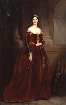 :Louisa Anne (née Stuart), Marchioness of Waterford by Sir Francis Grant. Was a Pre-Raphaelite watercolourist and philanthropist. Louisa childhood in Paris was marked by the early tuition she received in the art in keeping with being a great-granddaughter