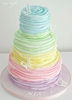 Very sweet-looking cake perfect for Avery's 4th birthday