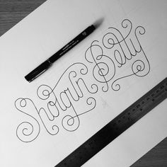Here's the 'Shotgun Betty' hand-drawn typography piece before it was scanned and vectorised :)
