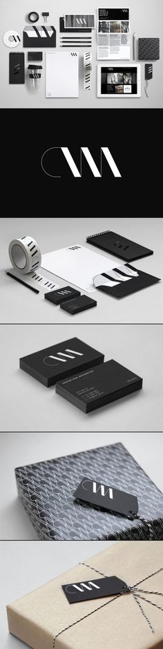 i really like the minamilist side of this brand identity. i like the use of black and white and i really like the flowing type. its nice how the logo has been put on all of the utensils so you can see what brand it is.