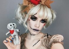 You don't need to recreate this Voodoo look by Voodoo Doll Halloween Costume, Voodoo Doll Makeup, Native American Halloween Costume, Family Halloween Costumes, Halloween Kostüm, Halloween Cosplay, Spirit Halloween, Diy Couples Costumes, Couple Halloween Costumes For Adults