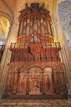 Cathedral Giralda -Seville-Spain cathedral-pipe-organ-