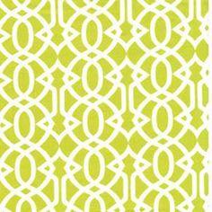 Fabrics - Tonic Living,Garden Trellis, Lime,100% Combed Cotton,Retro futon covers, retro fabric and pillows - imperial tresllis fabric