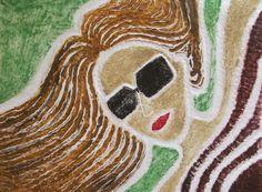 """Autor: Ana Arista, """"Pasto"""", técnica: grabado."""