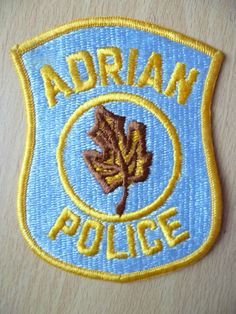 Patches: ADRIAN MICHIGAN COUNTY POLICE PATCH (New,approx. 4.2x3.6) in Collectables, Badges/ Patches, Club/ Association Badges | eBay