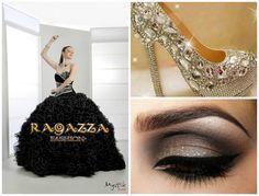 Vestido de xv años color negro, un elegante y diferente vestido