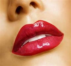 Red lips=Pop of Color.