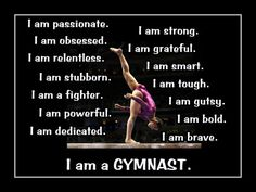 Gymnastics I AM A GYMNAST 2 Quote Inspiration by ArleyArtEmporium