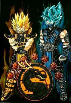 Goku and Vegeta as Scorpion & Subzero. These coloring pages is for all those who are fans of the coloring and dragon ball z.Go ahead and relieve stress coloring dragon ball z pages. Dragon Ball Gt, Dragon Ball Z Shirt, Poster Superman, Mortal Kombat Art, Mortal Kombat Memes, Sub Zero Mortal Kombat, Scorpion Mortal Kombat, Animes Wallpapers, Anime Art