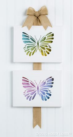 If you're not a painter, try your hand at this cut-and-layer technique. It's a unique twist on canvas art, and it's a fun way to incorporate some of your favorite craft papers. Step-by-step instructions ahead. Diy Wall Art, Diy Art, Canvas Wall Art, Origami, Diy And Crafts, Arts And Crafts, Paper Crafts, Cut Out Canvas, Butterfly Canvas