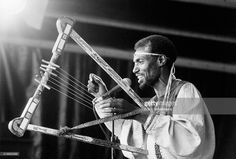 Seleshe Demassae, harp, performs on August 6th 1994 at the Africa Festival in Delft, Netherlands.