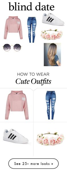 """""""cute date outfit"""" by titlewave500 on Polyvore featuring New Look, WithChic, adidas, Spitfire and Forever 21"""