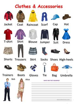 Clothes and Accessories Pictionary worksheet - Free ESL printable worksheets mad. Clothes and Accessories Pictionary worksheet - Free ESL printable worksheets made by teachers worksheet Esl Learning, Learning English For Kids, English Lessons For Kids, German Language Learning, Kids English, Learn English Words, Teaching English, Clothes Worksheet, Girls Party Dress