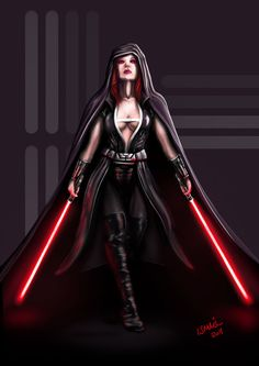 Sith Lord by ismaelArt if this could be made a reality, I would adore it. Perhaps slightly more closed in the front if I were to wear it for real, for practical purposes. Darth Sith, Jedi Sith, Darth Maul, Star Wars Characters, Female Characters, Star Wars Sith, Star Wars Rpg, Star Wars Fan Art, Female Sith Lords