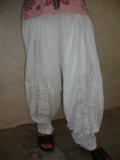 Patiala Salwar - Lace Work - direct from Patiala City ! Patiala Pants, Salwar Dress, Patiala Salwar, Salwar Suits, Online Shopping Stores, Silk Satin, Desi, Harem Pants, Party Dress