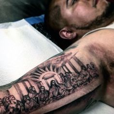 the possibilities are almost endless when it comes to arm tattoo designs and styles. Here are 100 cool arm tattoos for men. Inside Bicep Tattoo, Bicep Tattoo Men, Inner Bicep Tattoo, Cool Forearm Tattoos, Arm Tattoos For Guys, Body Art Tattoos, Fish Tattoos, Arabic Tattoos, Badass Tattoos