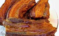 Sült császárszalonna házilag recept fotóval Food 52, Diy Food, Dessert Recipes, Cake Recipes, Delicious Restaurant, Hungarian Recipes, Pork Dishes, Sauce, Food And Drink