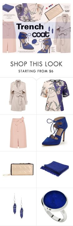 """Pastel Trench Coats"" by katarina-blagojevic ❤ liked on Polyvore featuring J.Crew, Carvela, Topshop, StyleRocks, Nails Inc., women's clothing, women's fashion, women, female and woman"