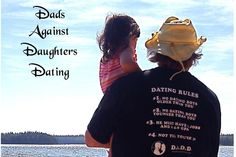 Dads Against Daughters Dating Photo Greeting Card with Envelope.  Blank inside.. $3.00, via Etsy.