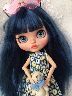 Your place to buy and sell all things handmade Faber Castell, Ooak Dolls, Blythe Dolls, Dolly World, Cute Dolls, Doll Face, Big Eyes, Etsy, Disney Characters
