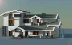 Modern house, creation - Minecraft World Villa Minecraft, Minecraft Modern Mansion, Minecraft Skyscraper, Minecraft Mods, Minecraft City Buildings, Minecraft House Plans, Minecraft House Tutorials, Cute Minecraft Houses, Minecraft Houses Blueprints