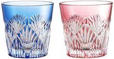 Kagami Crystal Pair Glass 120 cc Edo Kiriko # 2406 Made in Japan Handmade #KagamiCrystal