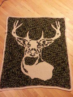Crochet Deer Afghan