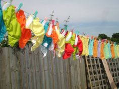 nappies on my washing line :)  Day 30 Wash #totsbots #picday