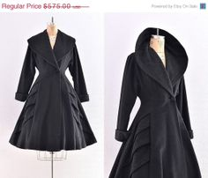 vintage 1940s coat   princess coat / new look / by PickledVintage, $402.50