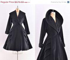 vintage 1940s coat   princess coat / new look / by PickledVintage, $402.50