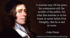 Dr. John Owen (1616-1683) was an English Nonconformist church leader, theologian, and academic administrator at the University of Oxford. His works are some of the greatest polemics against Arminianism, wonderful writings for the glory of God, and some of the best treatises ever penned for the good of the church – written by (arguably) the greatest thinking English Puritan Theologian that ever lived.