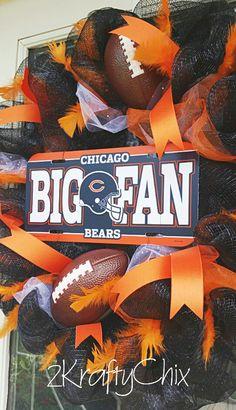 Chicago Bears Wreath #2kraftychix https://facebook.com/2kraftychix