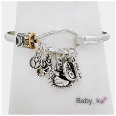 "Buddha & Lotus Charm Bracelet Antique rhodium happy buddha & lotus charms bracelet 1.3"" L-2.3"" Diameter Jewelry Bracelets"