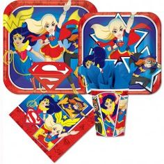 DC Superhero Girls Mini Party Packs (For 8 Guests)
