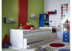 Wit tienerbed met extra laden voor tweede bed | Tienerbedden 289,00