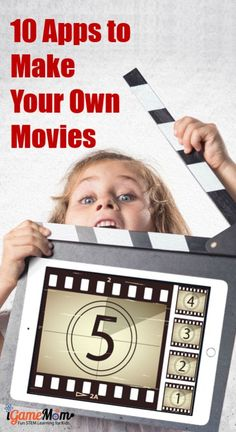 Looking for iMovie equivalent video tools? 10 movie maker apps kids make their own movies, learn stop motion animation, storytelling skills while having fun #STEMforKids #iGameMomSTEM
