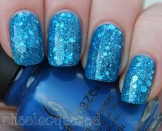 China Glaze Ride the Waves and OPI Crown Me Already