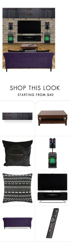 """Garage remodel #438"" by missactive-xtraordinary ❤ liked on Polyvore featuring interior, interiors, interior design, home, home decor, interior decorating, Blu Dot, Ralph Lauren, Sonia Rykiel and Sony"