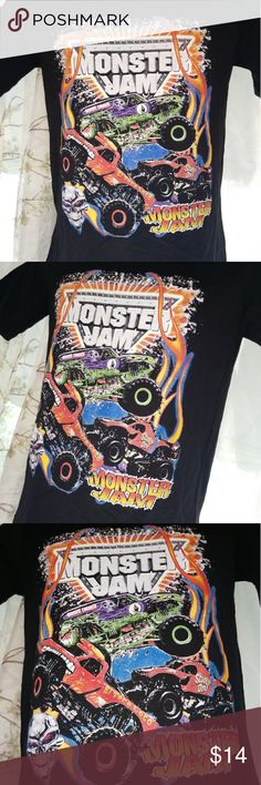 New 'Monster Jam' Short Sleeve  T-Shirt New 'Monster Jam' Short Sleeve  T-Shirt (Path Of Destruction)  . Size: Youth Large . Color: Black  . Material : 100 % Cotton  . Brand: Monster Jam Merchandise Monster Jam Shirts & Tops Tees - Short Sleeve