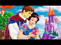 Puzzle Games Disney Princess Clementoni Snow White Picture Puzzel Rompecabezas Kids Play Set - YouTube