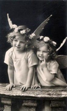 2 little angels... perhaps Shawna and Marissa LOL