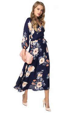 Богемное платье с застежкой на запах Libellulas / 2000000108377