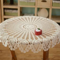 Crochet Doily Rug, Crochet Tablecloth Pattern, Crochet Doily Patterns, Crochet Round, Hand Crochet, Coffee Table Cover, Table Covers, Pineapple Crochet, Pineapple Pattern
