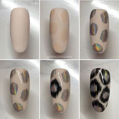 with ・・・ Reklame// Rainbow Leo 🐾 Buff the finish nail. Draw the inside of the Leo dots with… Nail Manicure, Diy Nails, Cute Nails, Pretty Nails, Tiger Nails, Tiger Nail Art, Nail Techniques, Rainbow Nails, Halloween Nail Art